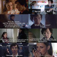 Sherlock and Molly moments through the seasons. #sherlock #sherlolly #mollock