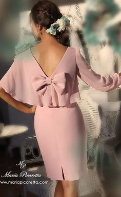 Vestidos de Fiesta de María Picaretta Elegant Outfit, Elegant Dresses, Cute Dresses, Beautiful Dresses, Short Dresses, Prom Dresses, Formal Dresses, Peplum Dress, Dress Up
