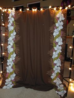 Assembled photo booth back-drop!