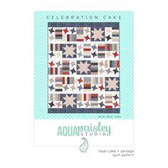 Celebration Cake PDF Quilt Pattern by Aqua Paisley Studio
