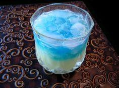 Twilight Zone ~ 1 fluid ounce Bacardi Light Rum, 1/2 fluid ounce DeKuyper Melon Liqueur, 1 1/2 fluid ounces Coconut Cream, 5 ounces Crushed Ice, and Blue Curacao