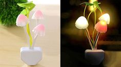 LED Night Light Mushroom Lamp #homedecor #lamps #lighting #coolstuff…