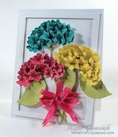 KC Impression Obsession Hydrangea Set 4 right Kittie Kraft Flower Cards, Paper Flowers, Impression Obsession Cards, Art N Craft, Arte Floral, Card Tags, Paper Cards, Handmade Flowers, Homemade Cards