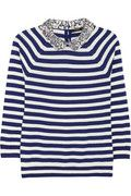 J Crew Liberty contrast collar merino wool sweater