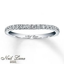 1/3 ct tw Diamond Wedding Band Round-Cut 14K White Gold