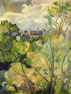 wonderingaboutitall:  View From My Window In Genets (Brittany) - Suzanne Valadon