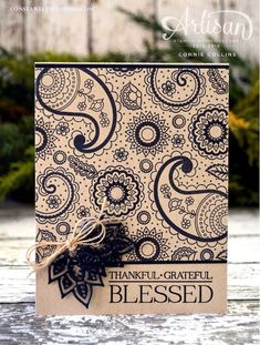 aisley & Posies card created by Stampin' Up! Artisan Design Team member, Connie Collins. http://www.ConstantlyStamping.com