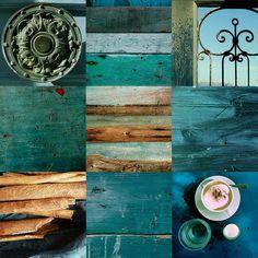 blue photo mosaic