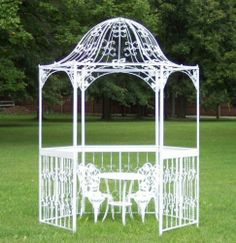 Metal Gazebos for Sale | Beautiful White Wrought Iron Gazebo for Sale in Mansfield, Ohio ...
