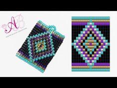 DIY Tutorial: Ciondolo Ethnic - Square Stitch in Italiano - YouTube