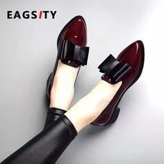 zapatos tacón de Zapatos De bloque del del de dedo patente mujer cuero básica de de wqAqR4I