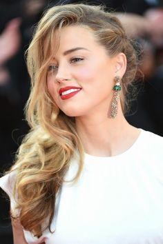 Amber Heard 2015, model, actress, atheist, bisexual girl #peinadosalcostado