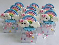 210 Likes, 3 Kommentare - Atelier Sara Aguiar❤ (Sara Itami da Cruz. Rainbow Birthday, Unicorn Birthday Parties, Unicorn Party, Girl Birthday, Clay Crafts, Diy And Crafts, Ideas Para Fiestas, Baby Party, Clay Creations