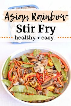 This Asian vegetable stir fry is a tasty way to pack tons of vegetables into a healthy dinner recipe. This healthy stir fry includes a blend of shiitake, oyster, and Baby Bella mushrooms for the ultimate umami element. Baby Bella Mushroom Recipes, Vegetarian Mushroom Recipes, Best Mushroom Recipe, Vegetarian Stir Fry, Healthy Stir Fry, Vegetable Recipes, Best Stir Fry Recipe, Stir Fry Recipes, Grilling Recipes