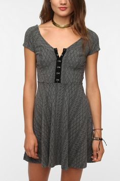 Pins and Needles Textured Hook And Eye Dress  #UrbanOutfitters