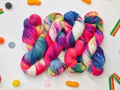 Fancy Tiger Crafts: Neon-Candy-Party-Time Yarn, Yeah!!