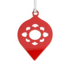 ornament die cut paper - punch out center - cool to hang or put on string for a garland