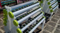 An Integrated Hydroponics System, inclusive of mobile rack, grow tube X4, solar panel, air pump and controller. Additional Information: https://www.facebook.com/media/set/?set=a.804105572940237.1073741830.116209295063205&type=1