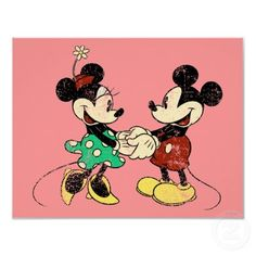 Vintage Mickey Mouse & Minnie Posters by disney
