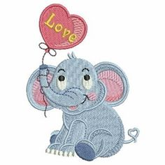 Baby Elephant 2 - 4x4 | What's New | Machine Embroidery Designs | SWAKembroidery.com Ace Points Embroidery