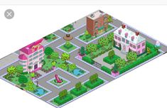 WHYDW: Malibu Stacy Headquarters and/or Stacy's Dream House Springfield Simpsons, Springfield Tapped Out, Springfield Heights, The Simpsons Game, Galaxy Wallpaper, Sims, Old Things, Instagram, Blessed