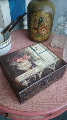 Vintage teabox www.decuberry.co.uk