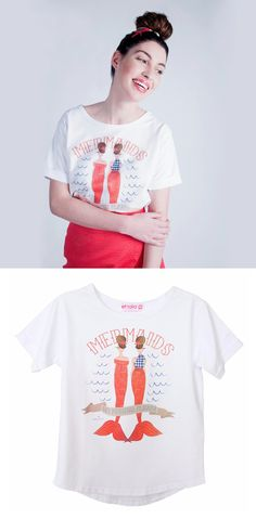 Etrala London | Wolf & Badger  #tshirt #mermaiddesign
