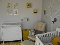 Decoração de quarto do bebê, tema Coalas.