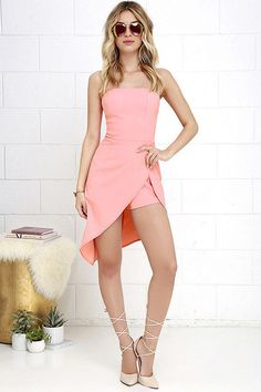 Hot Pink Romper with strapless and off the shoulder design