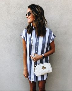 Madewell stripe shirt dress perfect for spring + summer