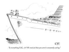 Ah... life in a cruise ship port - 99% of the people we see off these ships don't have this problem... LoL!