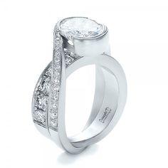 2a8f7511ca60 Custom Interlocking Diamond Engagement Ring