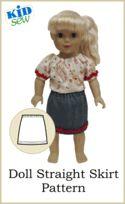 """18"""" Doll - free skirt pattern download, make in khaki for AHG Explorer"""
