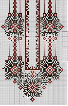 Beading _ Pattern - Motif / Earrings / Band ___ Square Sttich or Bead Loomwork ___ Folk Embroidery, Embroidery Patterns Free, Hand Embroidery Stitches, Embroidery Techniques, Beaded Embroidery, Beading Patterns, Cross Stitch Embroidery, Embroidery Designs, Cross Stitch Borders