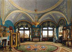 Halls of Winter Palace in Saint Petersburg, Russia.