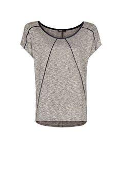 MANGO - Contrast piping t-shirt