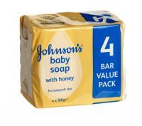 £1.29 - Johnsons Baby Soap With Honey 4x100g  Johnson's has been used by mums for over the past 100years and is still highly recommended. The tested formula helps to clean and moisturise baby's delicate skin, leaving it feeling smooth and soft to touch.