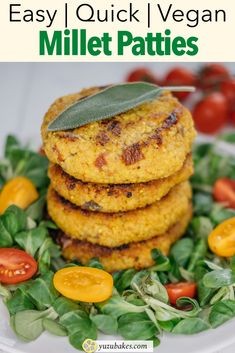 How to make super quick and delicious millet patties everyone will love. They are full of protein and taste fantastic. Great vegan recipe for lunch or dinner. #lunch #dinner #vegan #milletpatties Great Vegan Recipes, Vegan Lunch Recipes, Vegan Snacks, Brunch Recipes, Whole Food Recipes, Dinner Recipes, Vegan Meals, Vegan Food, Drink Recipes