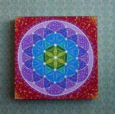 Flower of Life- Wood Block Print Art. $15.00, via Etsy.
