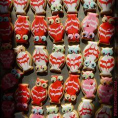 Mini Lovedbird Owl Cookies by Sweet Dani B
