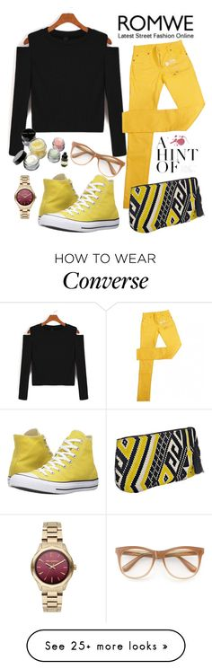 """""""Untitled #272"""" by aazraa on Polyvore featuring Maison Margiela, Converse, Wildfox, Karl Lagerfeld and Bobbi Brown Cosmetics"""