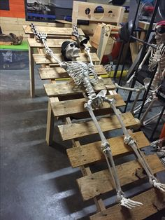 Skeleton torture room. If you don't follow the law, this is the worst that will happen. Test me