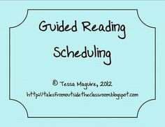 I find the hardest part about Guided Reading is figuring out how to meet with all of your groups, especially since the number of groups may change ...