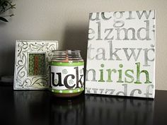 DIY St Patricks Day canvas art via Lulu's Tiles #seasonaldecor #DIY