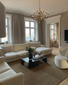 Dream Home Design, Home Interior Design, House Design, Room Interior, Home Living Room, Living Room Designs, Living Room Decor, Living Spaces, Beige Living Rooms