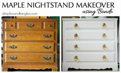 MAPLE NIGHTSTAND MAKEOVER http://www.dimplesandtangles.com/2015/05/maple-nightstand-makeover.html