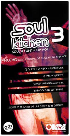 Soul kitchen 3!!! SOUL - FUNK  HOP en TARGET URBANO