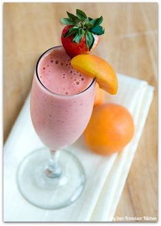 Apricot Strawberry Smoothie