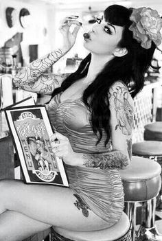 classic rockabilly beauty