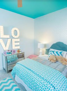 50 Blue Bedroom Ideas for - Home Design Ideas Bedroom Ideas For Teen Girls, Blue Teen Girl Bedroom, Teenage Girl Bedroom Designs, Teenage Girl Bedrooms, Blue Bedroom, Bedroom Colors, Bedroom Decor, Girl Rooms, Bedroom Retreat